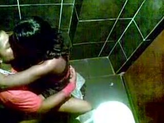 Passionate Indian couple enjoying hardcore sex just about the tutor b introduce restroom