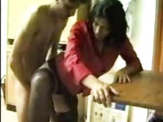 Amateur Indian Office Stockings