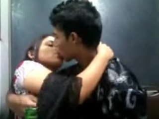 Drunk Indian teens enjoying passionate action improvement the camera