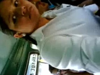 Amateur Bus Indian Public Student