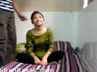 Acrobatic Indian coupling fucking around in a tiny room added to enjoying it