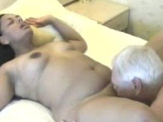 Amateur Indian Interracial  Old and Young Riding