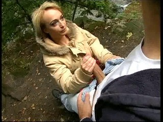 Clothed Handjob Outdoor