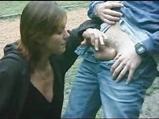 Amateur Cash Clothed Handjob Outdoor Public