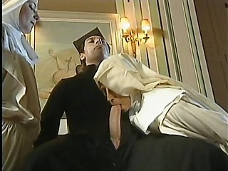 Blowjob Clothed Fisting Nun Threesome Uniform Vintage