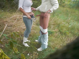 Amateur Clothed Girlfriend Outdoor