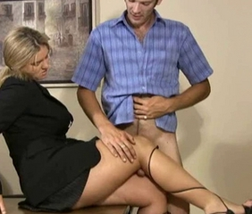 Blonde Feet Handjob