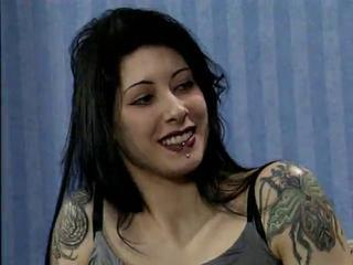 Babe Brunette Cute Goth Piercing Tattoo