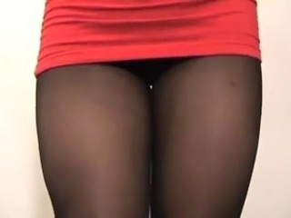 Amazing Pantyhose Skirt