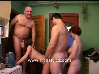 Family Kitchen Orgy