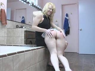 Ass Bathroom Blonde Lesbian