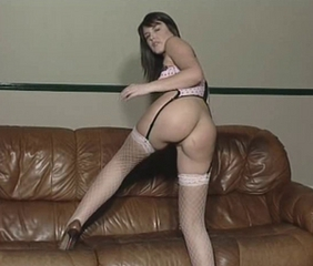 Ass Babe British Brunette Cute European Solo Stockings