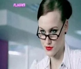 Babe Cute Glasses Secretary