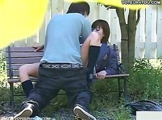Asian Clothed Outdoor Voyeur