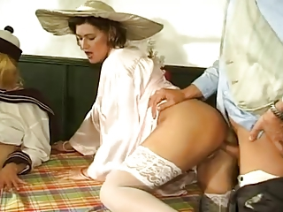 Babe Clothed European German Groupsex Hardcore Stockings Vintage