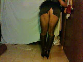 Amateur Ass Legs Pantyhose Skirt