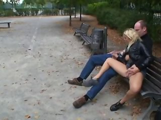 Clothed Girlfriend Outdoor Public