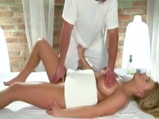 Babe Big Tits Massage Natural Oiled