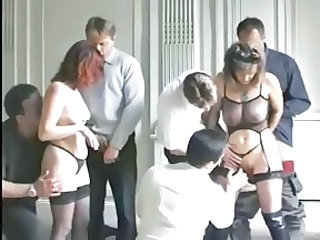 European French Groupsex Orgy Panty Stockings