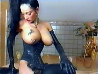 Big Tits Goth Latex Piercing Tattoo