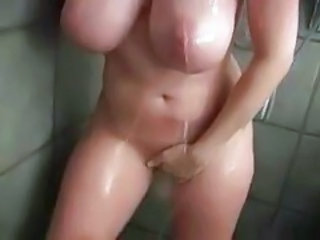 Big Tits Masturbating Natural Showers