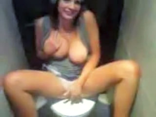 Amateur Homemade Masturbating Toilet