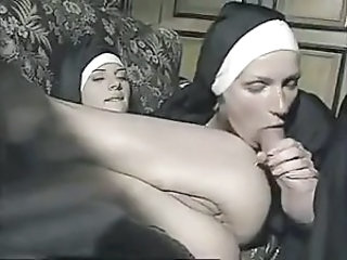 Blowjob Nun Threesome