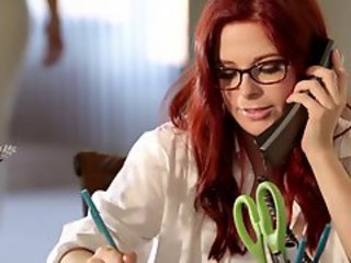 Babe Doctor Glasses Redhead Uniform