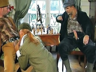 Blowjob Clothed Threesome Vintage
