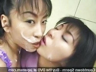 Asian Bukkake Swallow