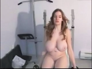 Amateur Big Tits Chubby Girlfriend Natural  Sport