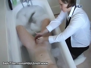 Bathroom  Handjob Small cock