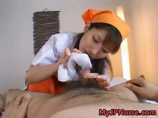 Asian Handjob Nurse Uniform