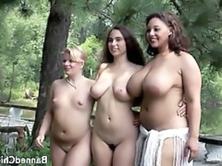 Babe Big Tits Chubby Lesbian Natural Outdoor