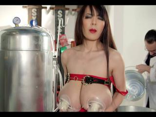 Hitomi as hucow. Did you remark a better udder for milking?