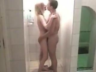 Beautiful Young Couple In The Shower