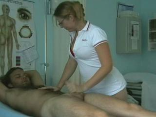 Glasses Handjob  Nurse Uniform