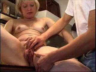 Blonde Kitchen Mature Mom Old and Young Pussy Small Tits