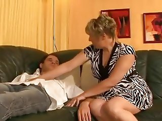 Blonde European German Mature Mom Old and Young
