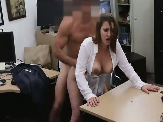 Amateur Clothed  Office