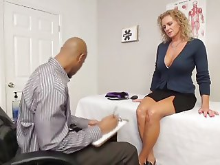 Amazing Big Tits Blonde Doctor
