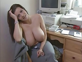 Amazing Big Tits  Natural Office Secretary