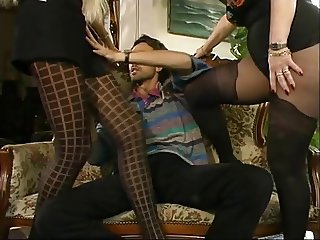 Legs  Pantyhose Threesome