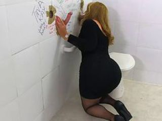 Milfs went into the men's room fuck