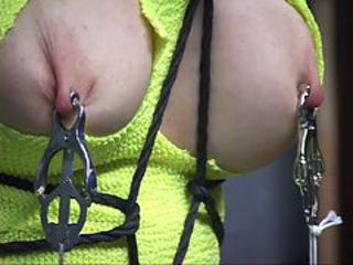 Submisive blonde girl slave get boundage and punishment...