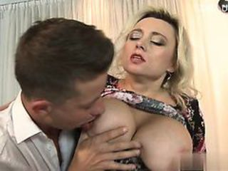 Big Tits Blonde European Italian Licking