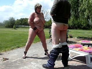 Amateur  Mature Outdoor  Slave