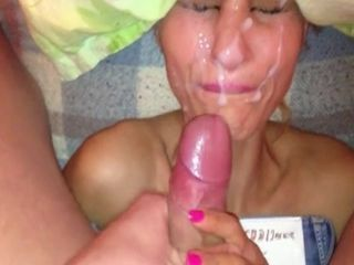 Blonde wife facials