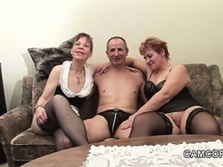 German old Grandpa and Grandpa alongside privat Amateur Threesome