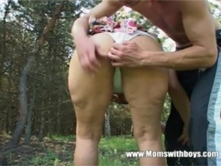 Horny Granny Fucks A Young Lad In The Woods free